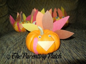 Construction Paper Pumpkin Turkey Craft