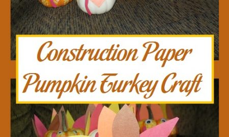 Construction Paper Pumpkin Turkey Craft