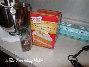 Ingredients for Spiced Orange Crinkles