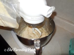 Adding the Cake Mix to the Butter Mixture