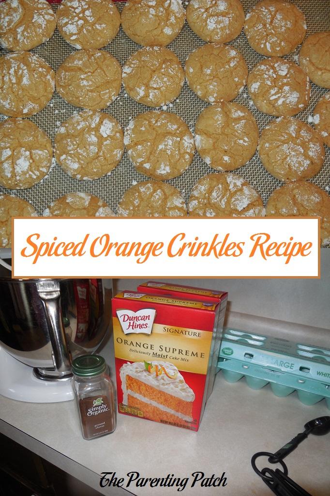Spiced Orange Crinkles Recipe