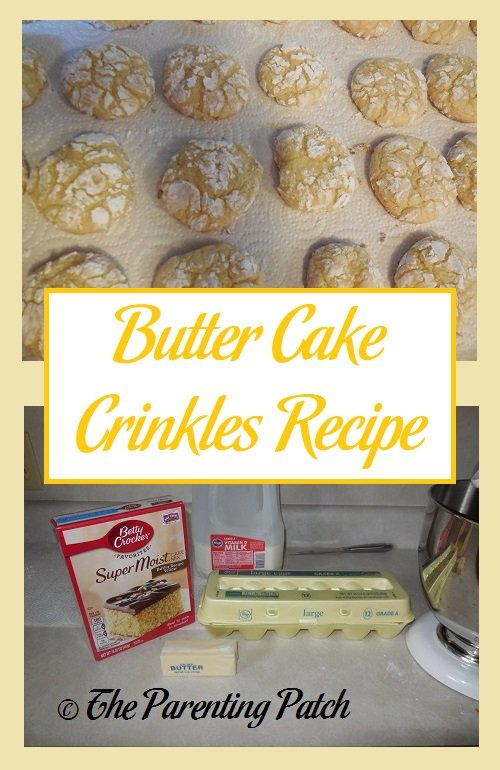 Butter Cake Crinkles Recipe