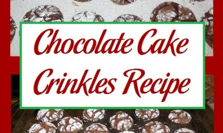 Chocolate Cake Crinkles Recipe