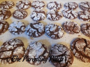 Chocolate Cake Crinkles Ready to Eat