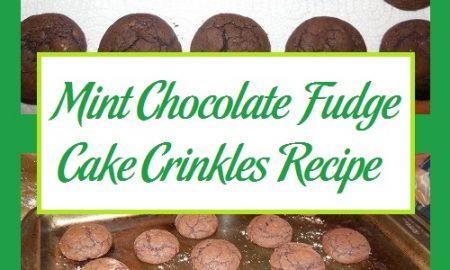 Mint Chocolate Fudge Cake Crinkles Recipe