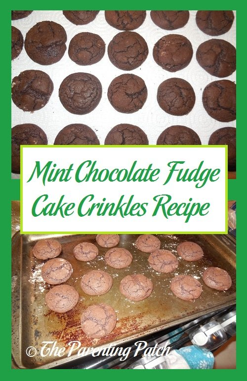Mint Chocolate Fudge Cake Crinkles Recipe