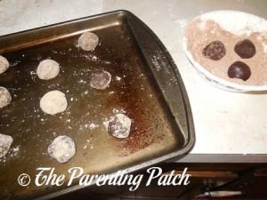 Unbaked Mint Chocolate Fudge Cake Crinkles