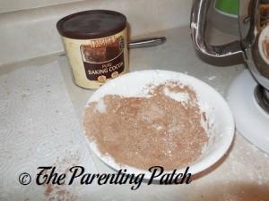 Cocoa Powder, Powdered Sugar, and Corn Starch Mixture
