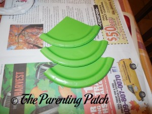 Paper Plate Thirds Glued Together