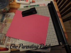 Construction Paper, Stapler, and Paper Cutter