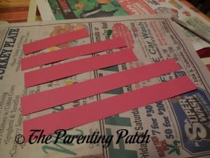 Small, Medium, and Large Paper Strips
