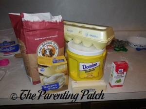 Ingredients for Peppermint Sugar Cookies