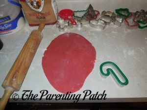 Rolling Out the Peppermint Sugar Cookie Dough