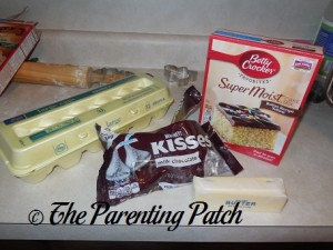 Ingredients for Butter Cake Blossom Cookies