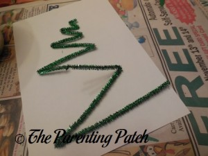 Bending the Green Pipe Cleaners
