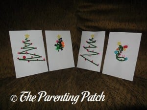 Pipe Cleaner Christmas Cards