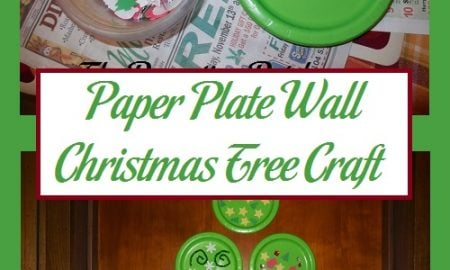 Paper Plate Wall Christmas Tree Craft