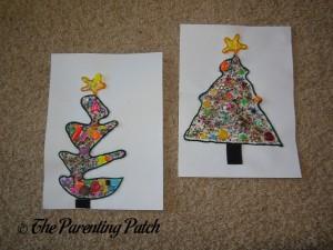 Beaded Yarn Christmas Trees