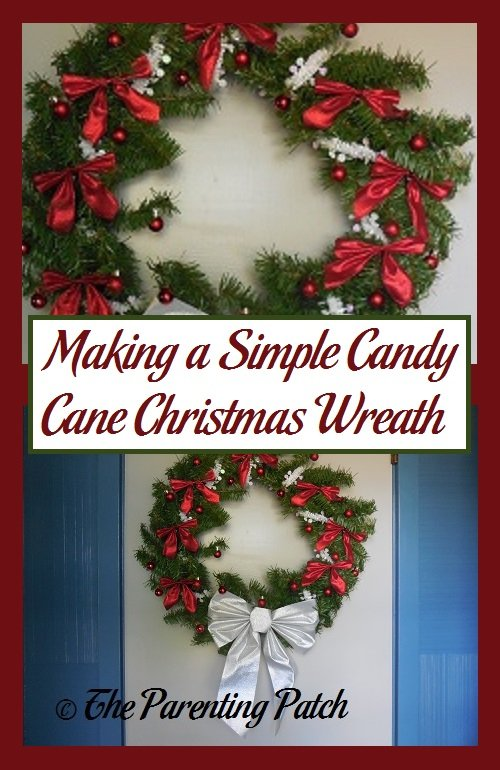 making a simple candy cane christmas wreath parenting patch