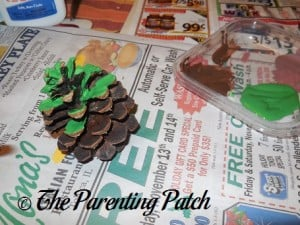 Painting the Pinecones Green