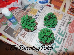 Green Pinecones