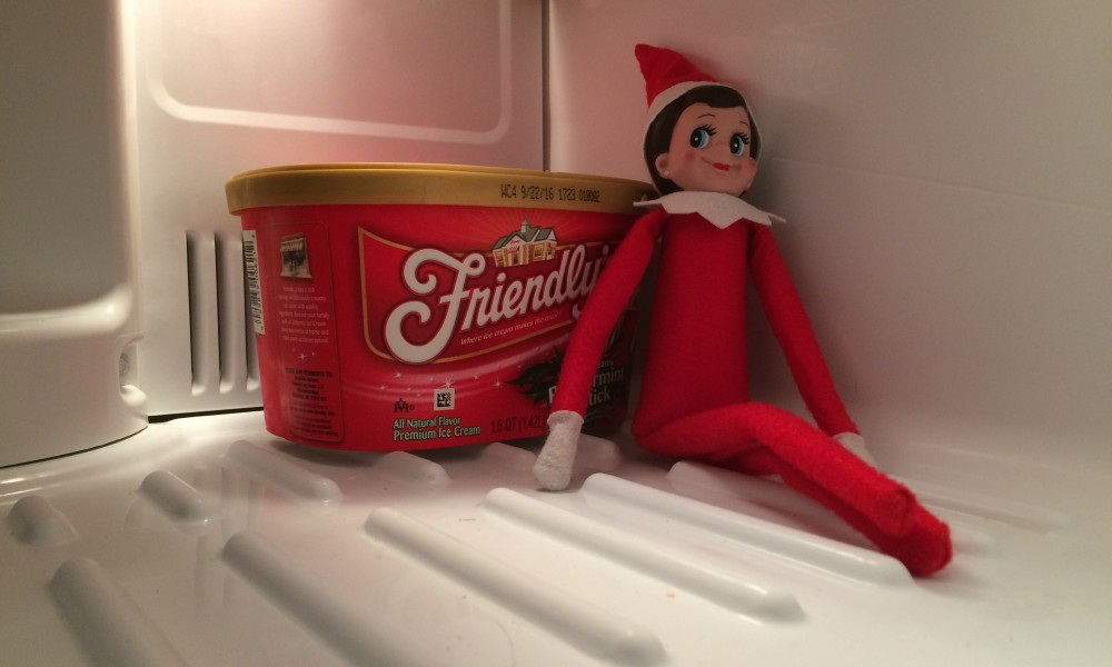 The Elf and the Peppermint Ice Cream: The Elf on the Shelf Day 17 ...