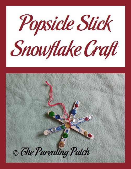 Popsicle Stick Snowflake Craft