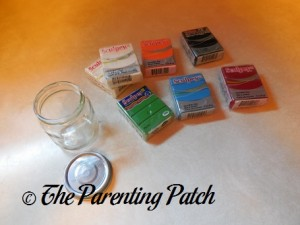 Glass Baby Food Jars and Sculpey Clay