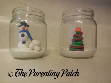 Clay Christmas Scene Jar Craft Parenting Patch
