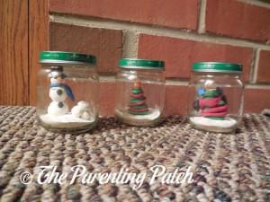 Clay Christmas Scene Jar Crafts