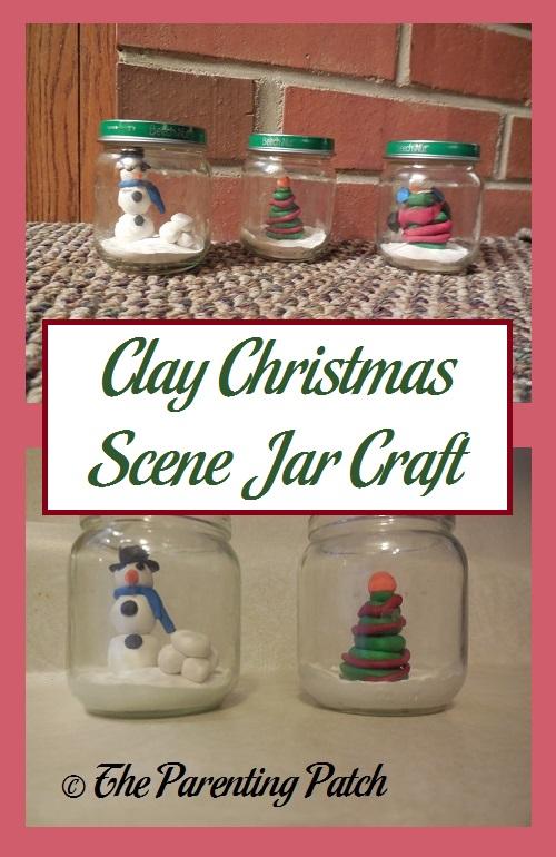 Clay Christmas Scene Jar Craft
