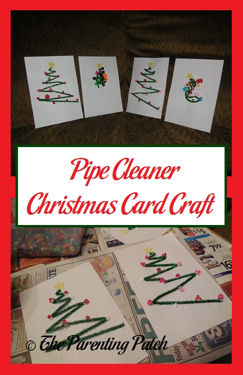 Pipe Cleaner Christmas Card Craft