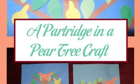 A Partridge in a Pear Tree Craft