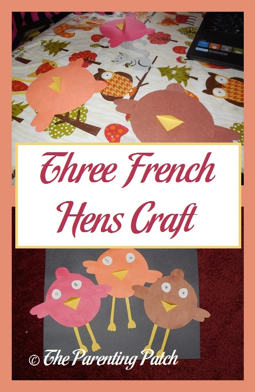 Three French Hens Craft