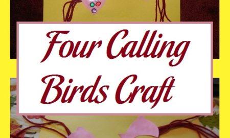 Four Calling Birds Craft