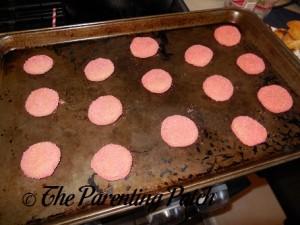 Flattened Gummy Bear Sugar Cookie Thumbprint Cookie Dough Balls