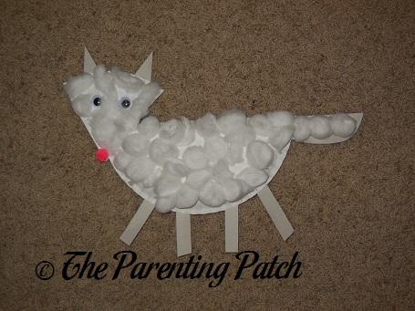 arctic fox paper plate craft parenting patch