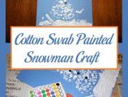 Cotton Swab Painted Snowman Craft