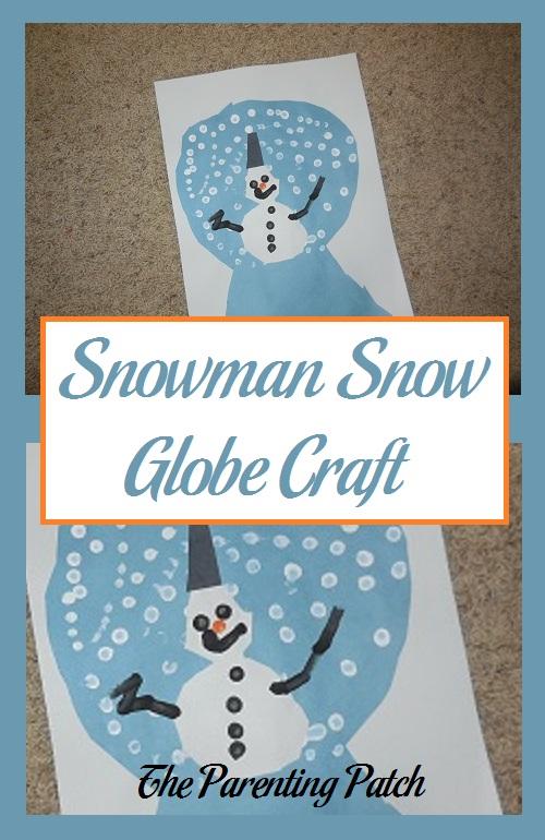 Snowman Snow Globe Craft