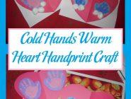 Cold Hands Warm Heart Handprint Craft