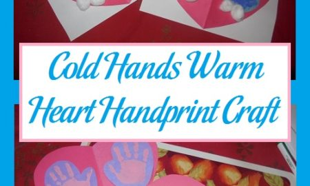 Cold Hands Warm Heart Handprint Craft
