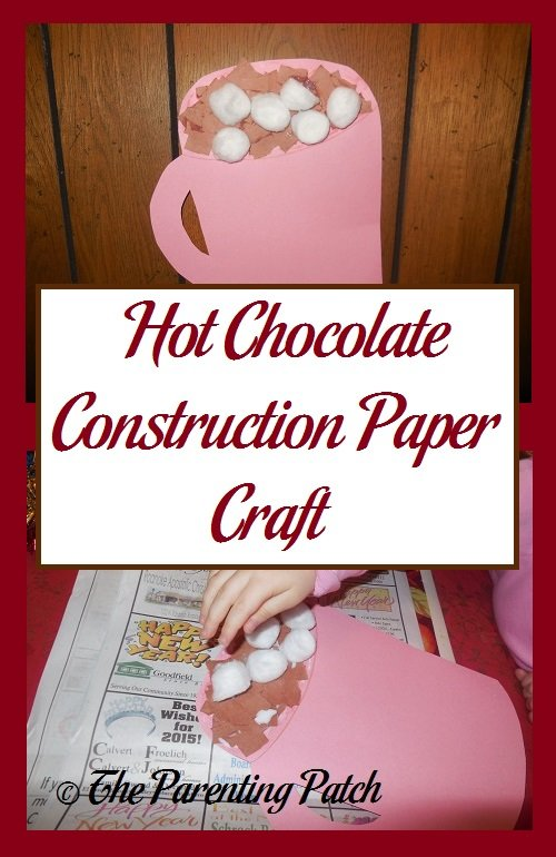 Hot Chocolate Construction Paper Craft