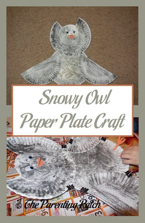 Snowy Owl Paper Plate Craft