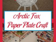 Arctic Fox Paper Plate Craft
