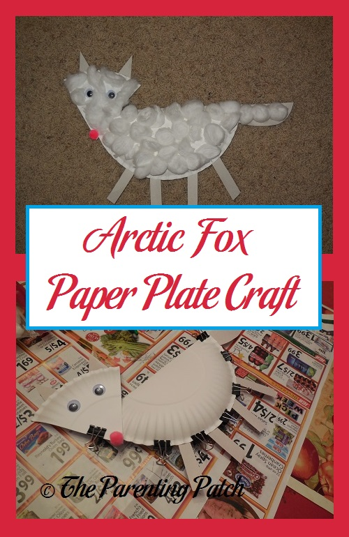 Arctic Fox Paper Plate Craft