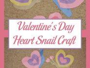 Valentine's Day Heart Snail Craft