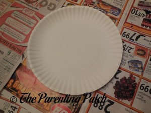 White Paper Plate for Paper Plate Penguin Craft