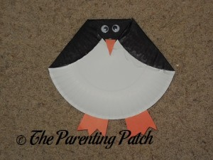 Finished Paper Plate Penguin Craft