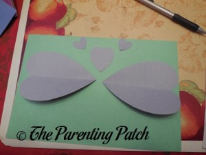 Laying Down Hearts for Valentine's Day Heart Butterfly Craft