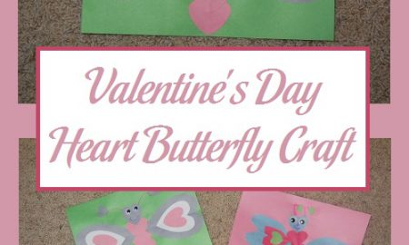 Valentine's Day Heart Butterfly Craft